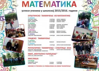 Математика 2015/2016. година