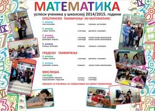 Математика 2014/2015. година