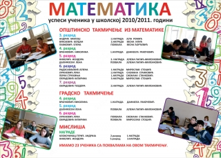Математика 2010/2011. година